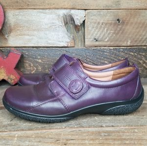 Hotter Sugar Mary Jane Purple Aged Leather Shoes